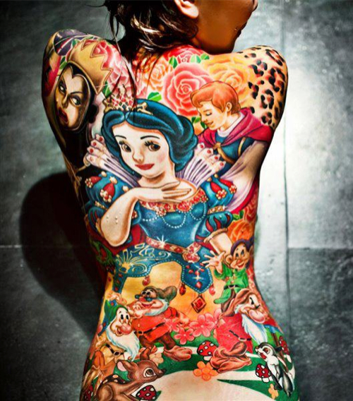 3D Disney Tattoos