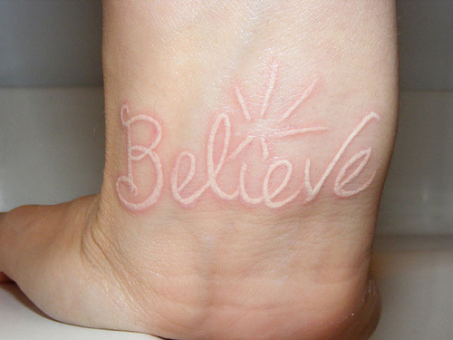 15 white ink tattoos you need to see before considering for Fresh white ink tattoo