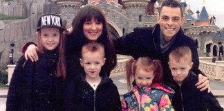 Chris Ceri and Children at Disney Paris