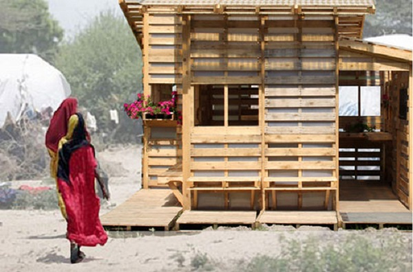 Pallet House for Refugees in Somalia 2