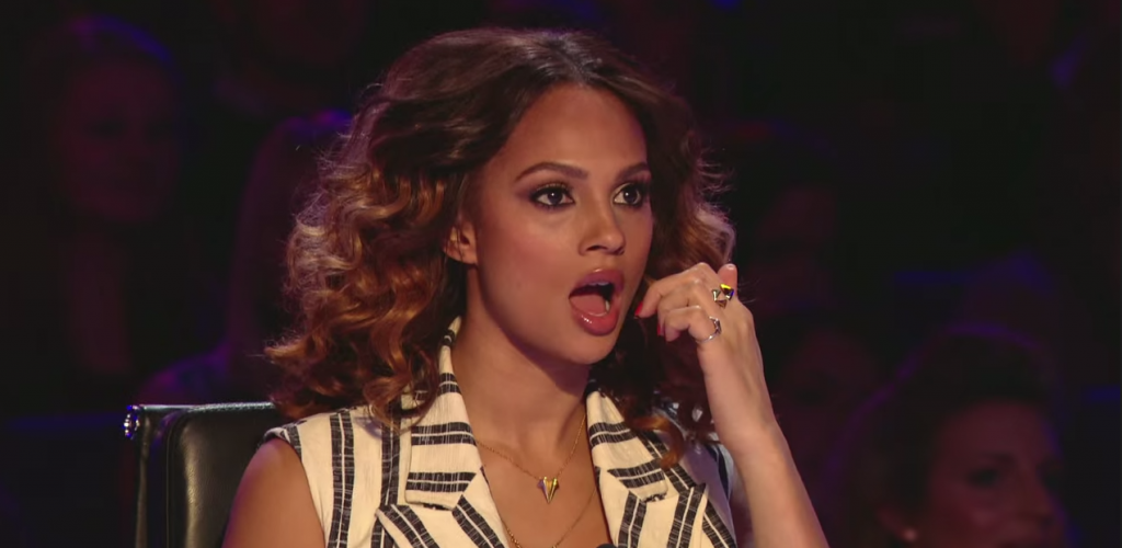Judge Alesha Dixon was speechless