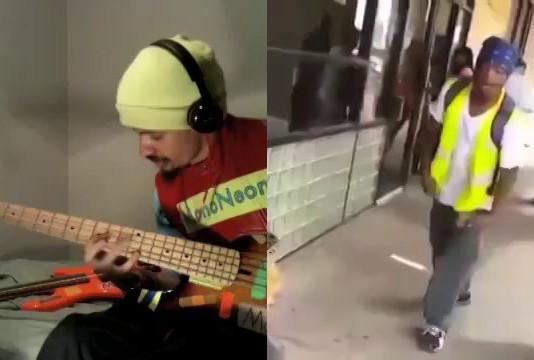 3 random strangers singing