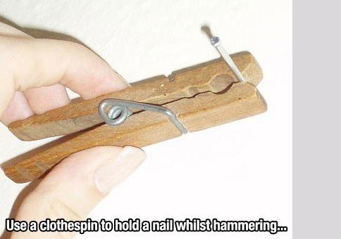 Nail peg - life hack