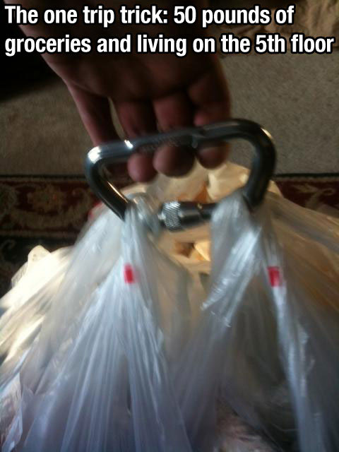 Shopping bags - life hack