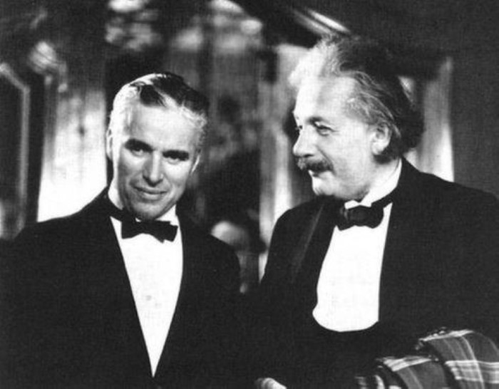 Einstein and Chaplin