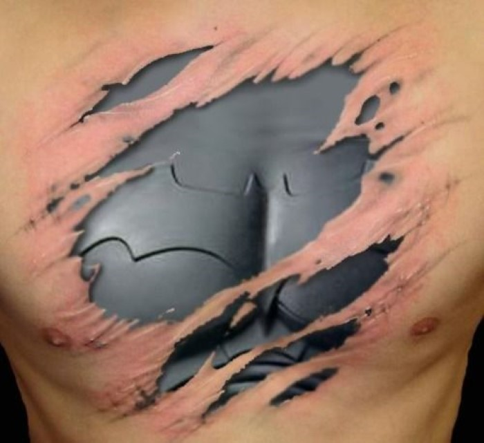 this collection of messed up 3d tattoos is sick boredombash. Black Bedroom Furniture Sets. Home Design Ideas