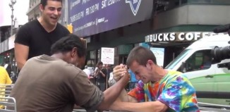 Making Homeless Wrestle Prank