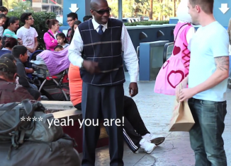 feeding homeless with magic
