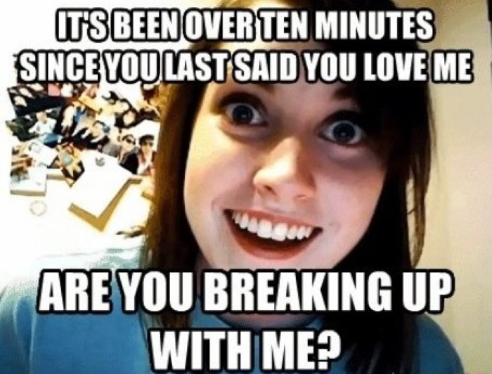 Dating a crazy girl meme