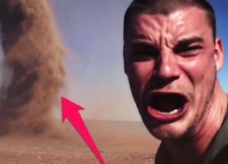 Selfie During a Tornado