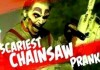 Clown Chainsaw Prank