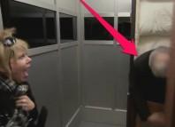 Dead Corpse in Elevator Prank