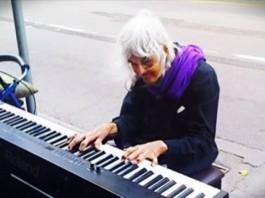 Elderly Lady Keyboard