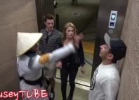 Mortal Kombat Elevator Prank 2 fouseyTUBE