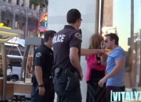 Woman Abused In Front Of Cops Prank! VitalyzdTv
