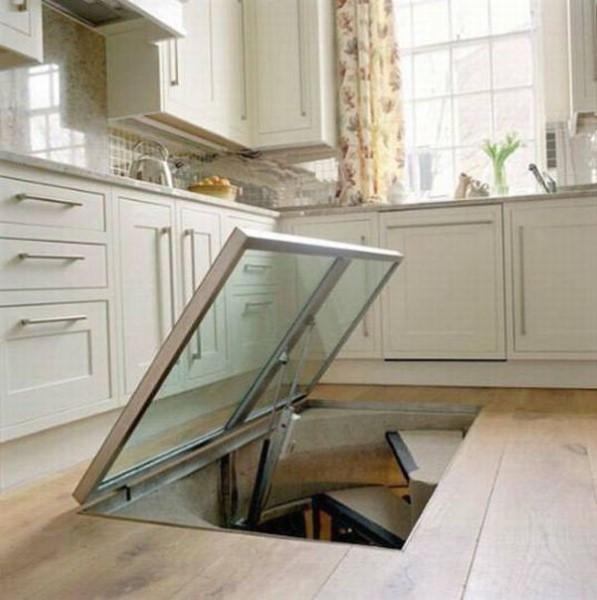 Weird Hidden Window On Kitchen Floor Leads To Wine Cellar! | BoredomBash