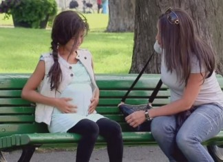 Pregnant Little Girl Prank