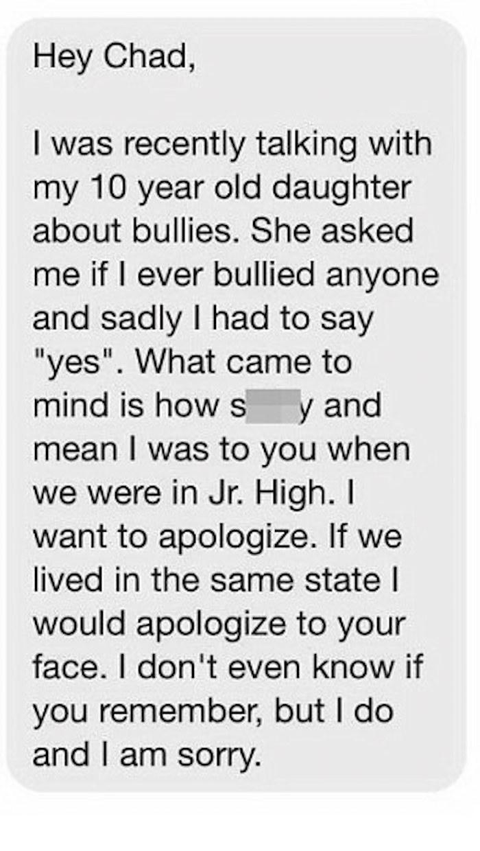 Bully Apology 1