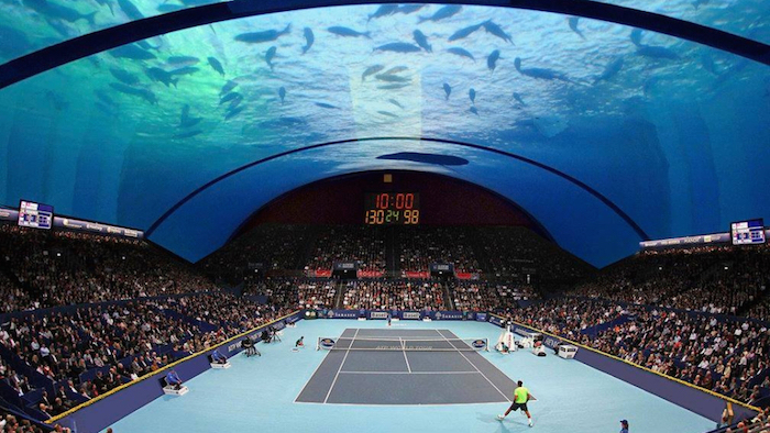 This Isnt Purely A Gimmick However The United Arab Emirates Are Tennis Mad Nation As Krysztof Kotala Architect Behind Plan Stated Will