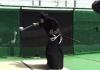 Samurai slices baseball