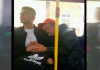 holding hands on bus