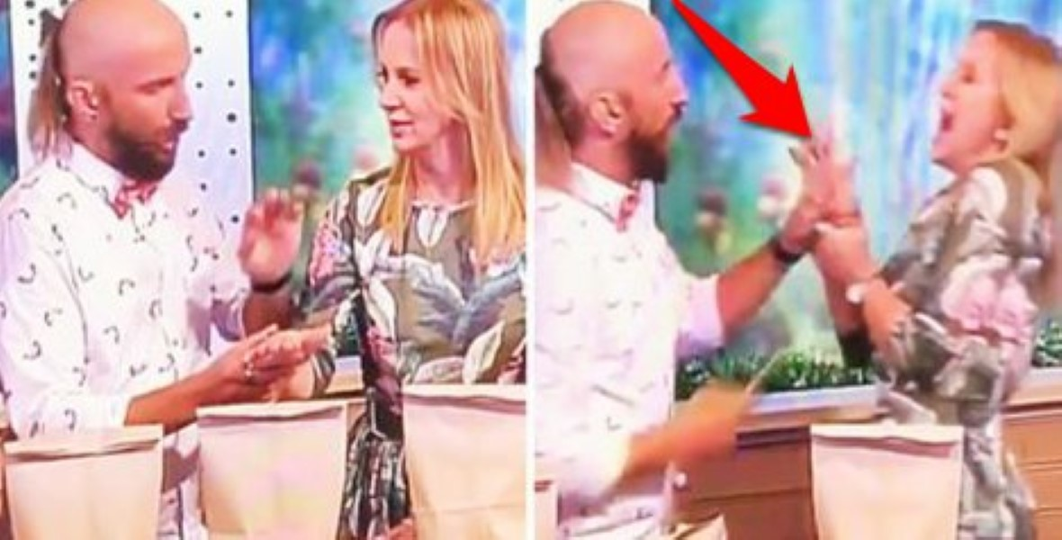 TV magic trick gone wrong
