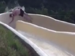 water slide thumb