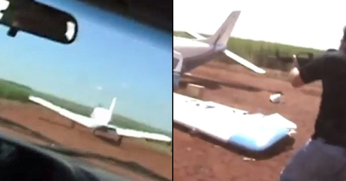 Cops Take Down Drugs Plane