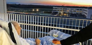 Dying Man Balcony