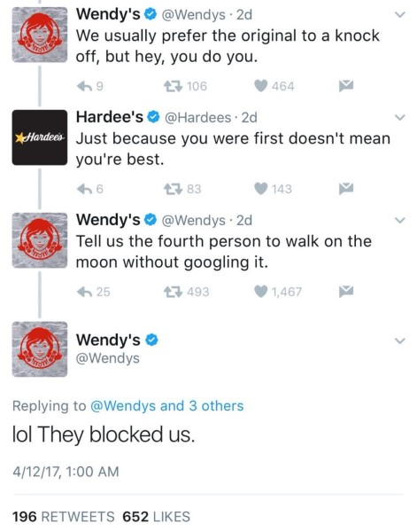 Wendy's Hardee's Twitter Beef (1)