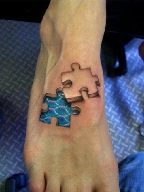 3D foot Tattoos