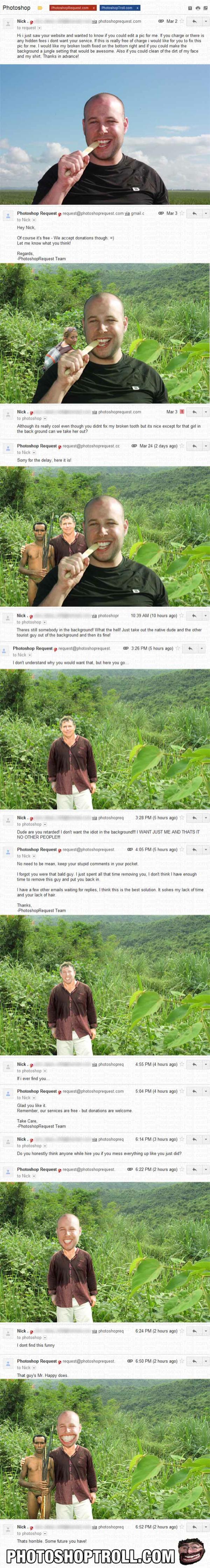 Photoshop Troll jungle