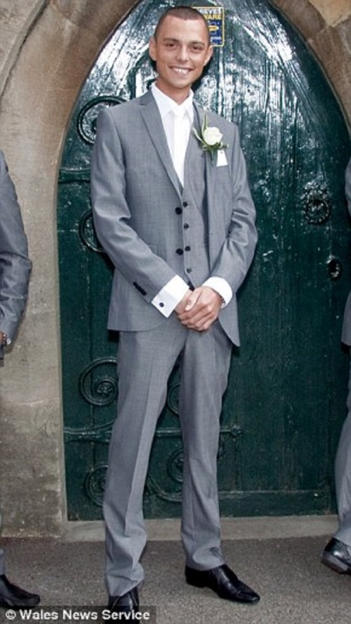 Chris Price In His Wedding Suit