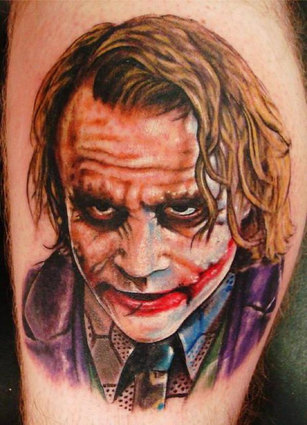 Heath ledger joker tattoo ideas