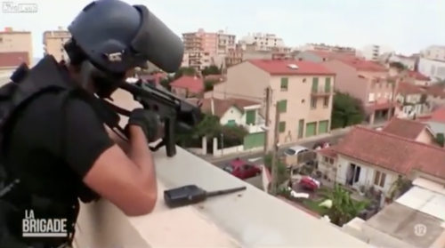 French Police Suicidal Man