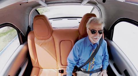 In a Self Driving Car
