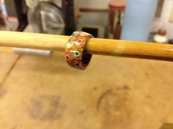 Lacquered Pencil Ring