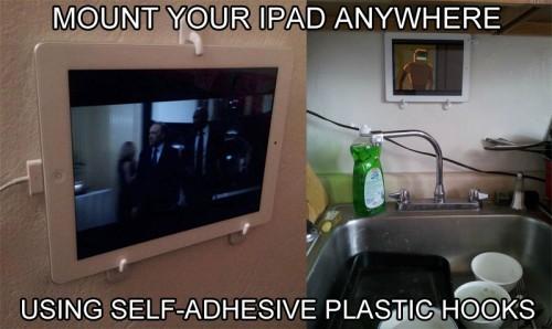 ipad-mount-using-plastic-hooks