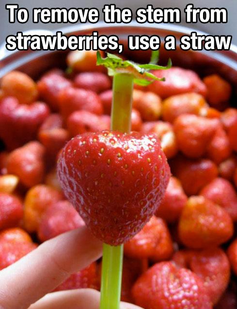 Strawberries - life hack