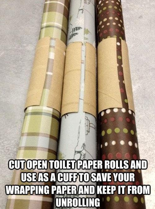 Toilet rolls - life hack