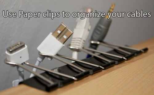 paper clips - life hack