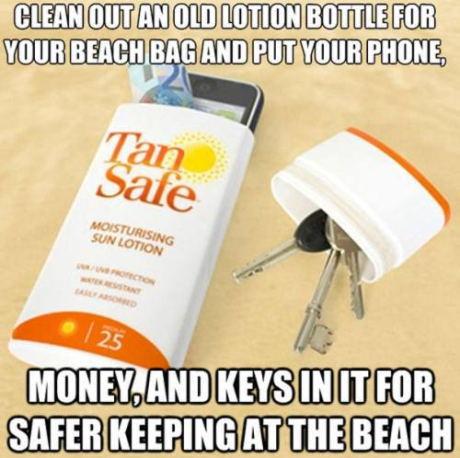 sun lotion - life hack