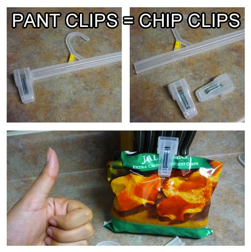 turn-pant-clips-into-chip-clips-life-hack