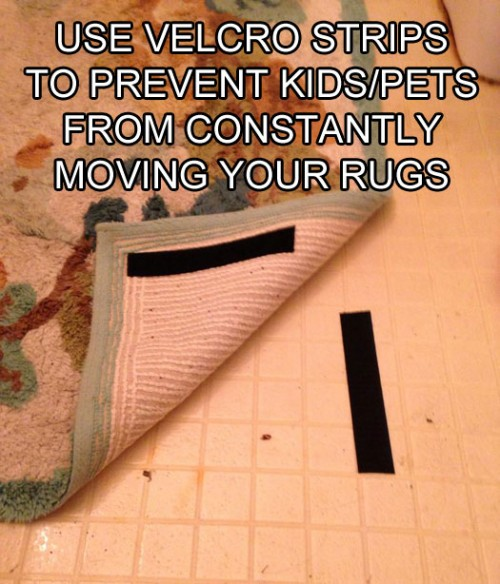 velcro-strips-keep-rugs-in-place-life-hack