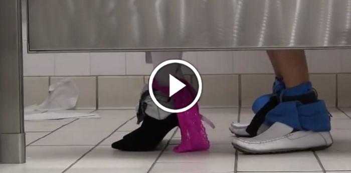 Bathroom Stall Prank Video Boredombash
