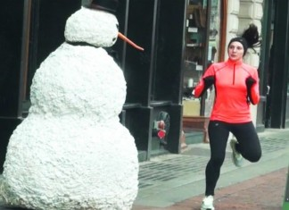 Scary Snowman Terrorizes Boston