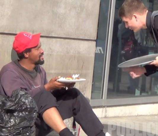 Waiter For The Homeless